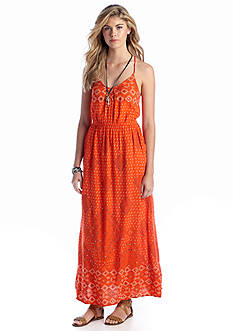 Lucky Brand Irving Printed Maxi Dress