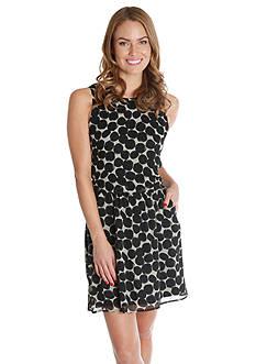 Lucky Brand Exploded Polka Dot Dress