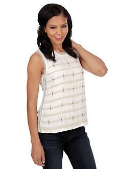 Lucky Brand Beaded Stripe Tank