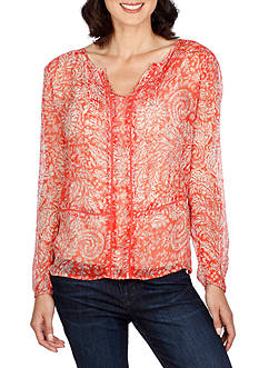 Lucky Brand Red Vines Top