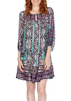 Lucky Brand Scarf Print Dress