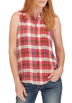 Lucky Brand Rayon Plaid Shirt