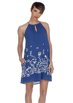 Lucky Brand Floral Embroidered Dress