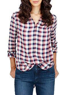 Lucky Brand Girlfriend Plaid Shirt