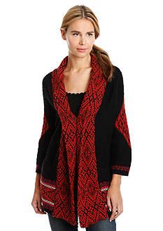 Lucky Brand Jacquard Sweater Coat