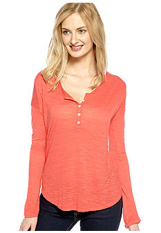 Lucky Brand Carla Lace Shoulder Henley