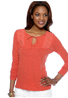 Lucky Brand Dora Embroidered Top