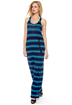 Lucky Brand Stevee Tie Dye Maxi Dress with Braided Belt