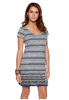 Lucky Brand Irving and Fine Printed T-Shirt Dress