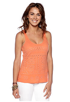 Lucky Brand Safari Cut Out Tank Top