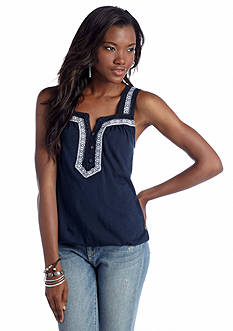 Lucky Brand Galena Embroidered Tank