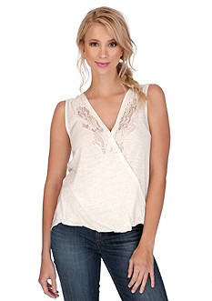 Lucky Brand Sleeveless Surplice Tank