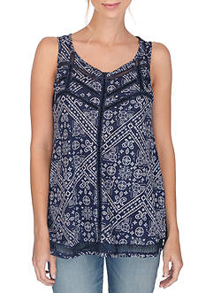 Lucky Brand Ladder Stitch Tank