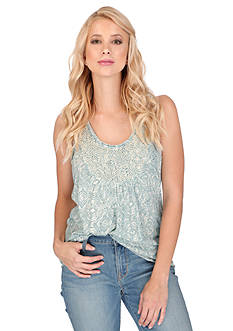 Lucky Brand Beaded Scoop Neck Top