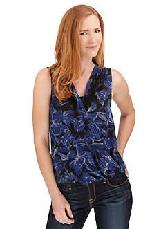 Lucky Brand Floral Surplice Top