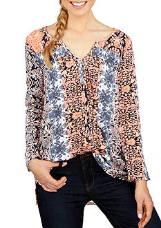 Lucky Brand Multi Printed Top