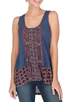 Lucky Brand Mixed Print Tank