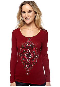 Lucky Brand Long Sleeve Medallion Tee
