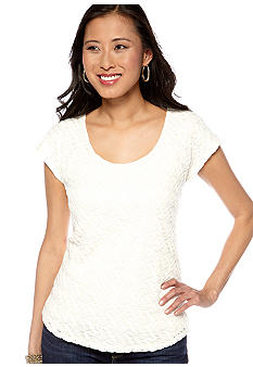 Lucky Brand Lace Front Top