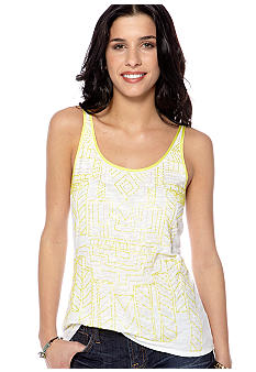 Lucky Brand Citrus Beaded Tank