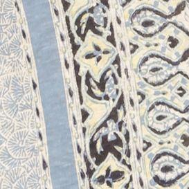 Womens Tees: Blue Multi Lucky Brand Scarf Print Tee