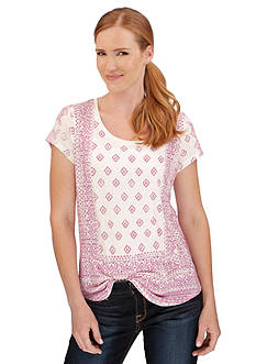 Lucky Brand Aztec Printed Tee