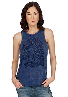 Lucky Brand Window Embroidery Tank