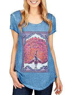 Lucky Brand Peacock Graphic Tee