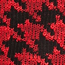 Cable and Gauge: Red Cable and Gauge Houndstooth Cowl Neckline Sweater