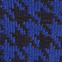 Cable and Gauge: Ultraviolet Cable and Gauge Houndstooth Cowl Neckline Sweater