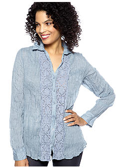 Spense Crochet Chambray Shirt