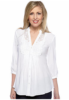 Spense Crochet Front Shirt