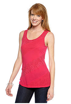 Spense Sleeveless Lace Detail Tank