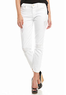 7 For All Mankind Josefina Button Fly Crop Jeans