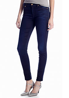 7 For All Mankind® The High Waist Skinny in Blue Black Sateen