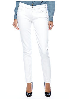 7 For All Mankind Slim White Cigarette Jean