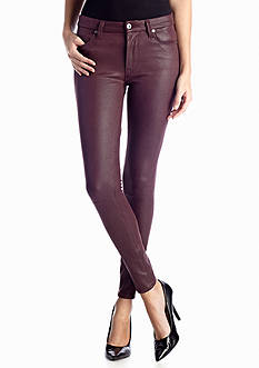 7 For All Mankind® Vegan Crinkle Leather Skinny Jean