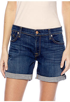 7 For All Mankind Mid Roll Up Denim Short
