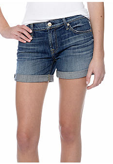 7 For All Mankind Relaxed Mid Roll Up Jean Short