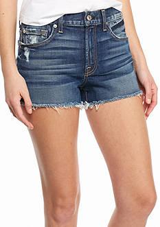 7 For All Mankind Distressed Cutoff Denim Shorts