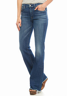 7 For All Mankind Raw Hem Flare Jeans