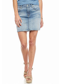 7 For All Mankind Denim Mini Skirt