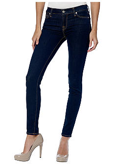 7 For All Mankind Skinny Denim In Rinsed Indigo