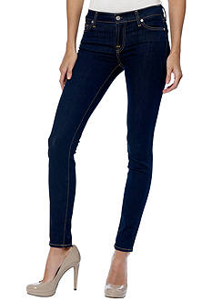 7 For All Mankind® Skinny Denim In Rinsed Indigo