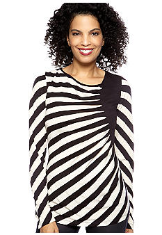 ECI Diagonal Stripe Knit Top