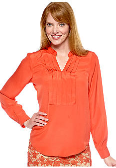 ECI Pleat Front Blouse