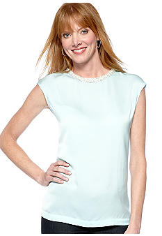ECI Pastel Beaded Neck Top