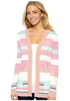 ECI Striped Cardigan