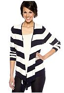 Grace Elements Stripe Open Cardigan