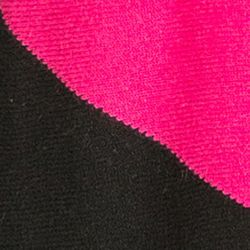 Womens Cashmere Sweaters: Black/Magenta Ply Cashmere™ Color-blocked Asymmetrical Hem Pullover Sweater
